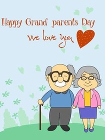 Happy Grandparents Day, We love  you