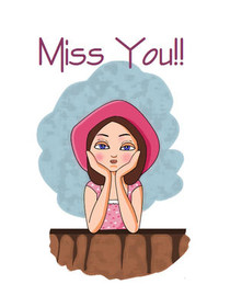 photograph regarding Printable Miss You Cards referred to as Free of charge Printable Pass up Oneself Playing cards, Develop and Print Absolutely free