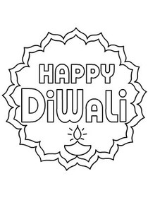 Diwali Coloring Card 4