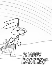Easter - Coloring Card 1