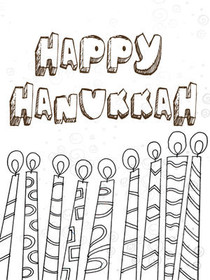 Happy Hanukkah - Coloring Card