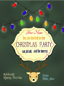 You are Invited to the Christmas Party - Eat, Drink and Be Merry
