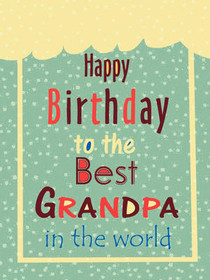 photo relating to Grandpa Birthday Card Printable named Absolutely free Printable Birthday Grandpa Playing cards, Deliver and Print Totally free