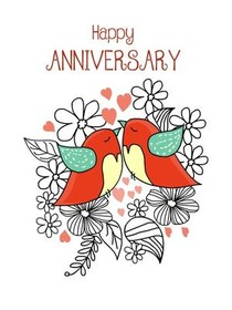 Happy Anniversary; Happy Anniversary  Print Anniversary Card