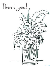 Thank You - Coloring Card