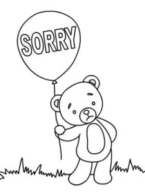 Sorry - Coloring Card