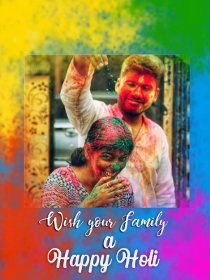 Wish Your Family a Happy Holi Photocard