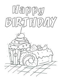 Birthday Coloring Card