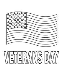 Veterans Day Coloring Card