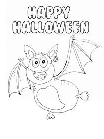 Halloween Coloring Card