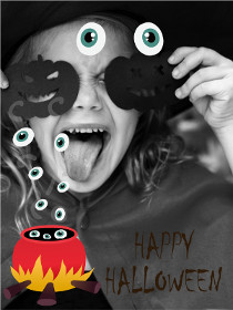 Happy Halloween - Halloween Photocard