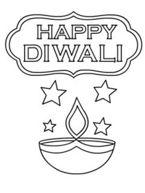 Diwali Coloring Card
