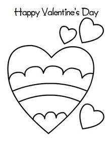 Happy  Valentine's Day - Coloring Card