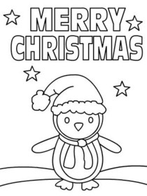 christmas coloring card 1 printable card