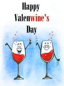 Happy Valen-Wine Day